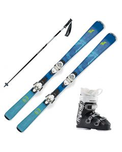 2020 Nordica Astral 74CA Women's Skis w/ Rossignol Kelia 50 Boot and Poles