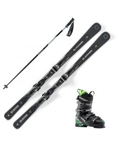 2020 Blizzard Quattro 7.2 Skis w/ Rossignol Speed 80 Boots and Poles