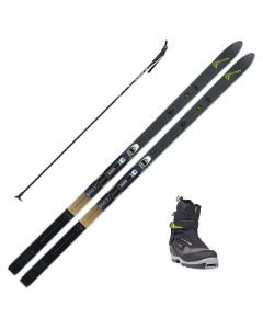 2020 Fischer Outback 68 Crown XC Skis w/ Fischer Offtrack 5 BC Boot and Poles