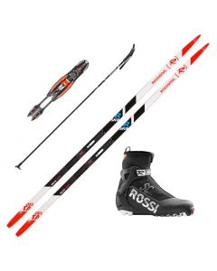 2020 Rossignol Delta Comp R-Skin XC Skis w/ Rossignol X8 SC Boots and Poles