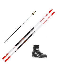 2020 Rossignol Delta Sport Skate Skis w/ Rossignol X6 SC Boots and Skate Poles