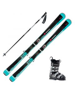 2019 Rossignol Famous 2 Women's Skis w/ Rossignol Pure Comfort 60 Boot and Poles