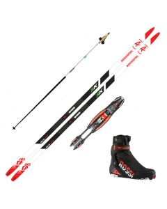 2020 Rossignol Delta Comp Skate Skis w/ Rossignol X8 SC Boots and Skate Poles
