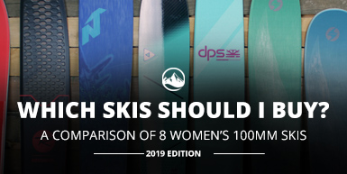 Which Skis Should I Buy? Comparing Women's 100mm Skis - 2019 Edition -  Intro Image